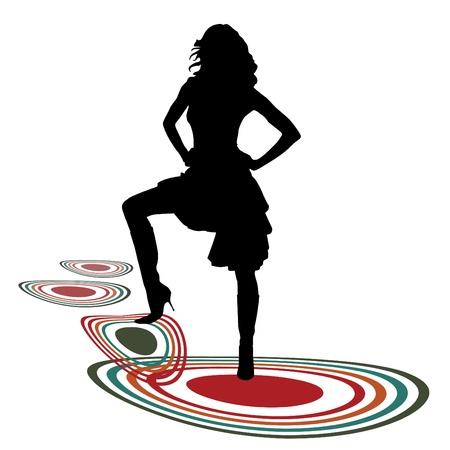 sexy woman silhouette: fashion woman  Illustration