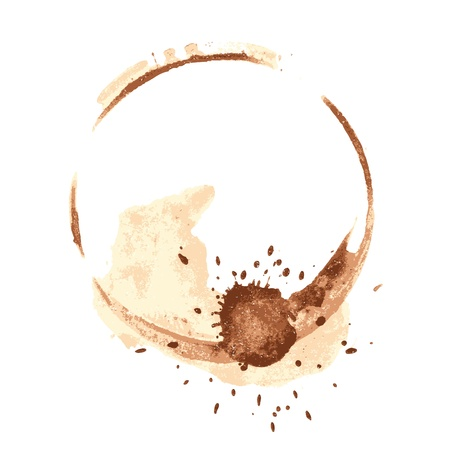 coffee spill: coffee stains