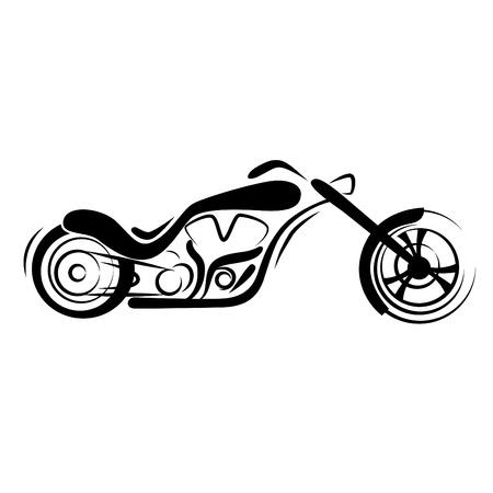chopper: chopper motorcycle