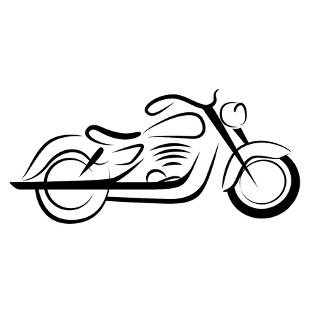 motorbikes: pper motorcycle  Illustration