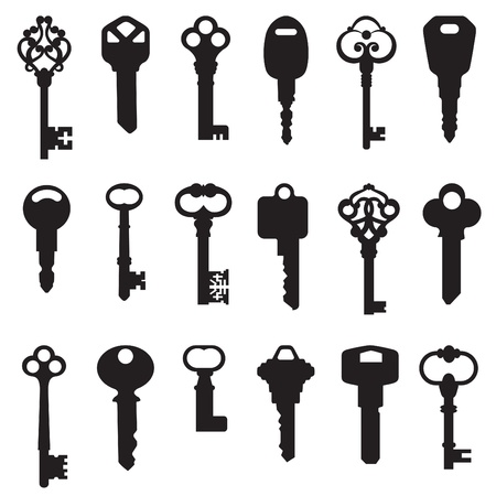 safe lock: key set