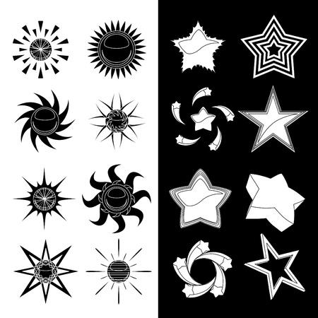 star and sun symbols Stock Vector - 10330656