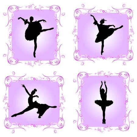 ballet dancers with decorative frame