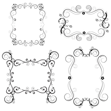 accent: decorative frame set  Illustration