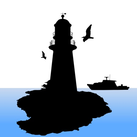 tall ship: lighthouse