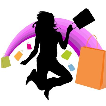 elation: shopping girl
