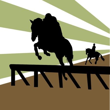 racehorse: equestrian  Illustration