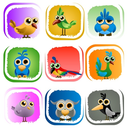 animation: Cartoon vogels