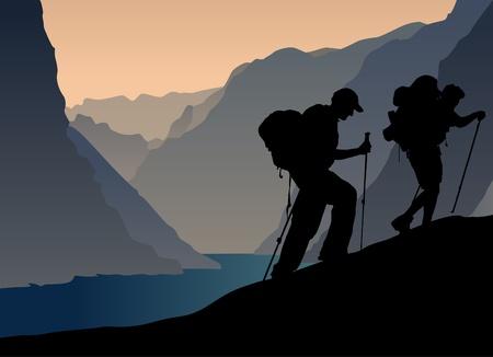 climbers Stock Vector - 10329634