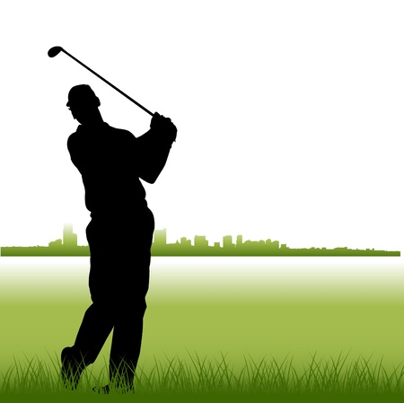 golf clubs: golf Illustration