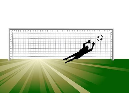 arquero de futbol: Portero  Vectores