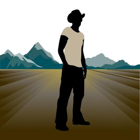 oklahoma: cowboy Illustration