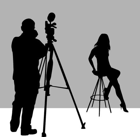 studio photo: photographer