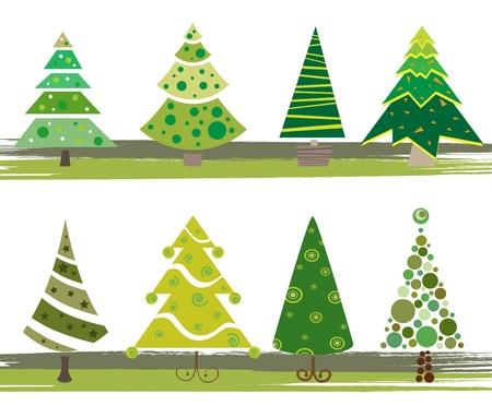 lone: pine tree set Illustration
