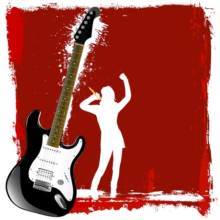 playing guitar: music background