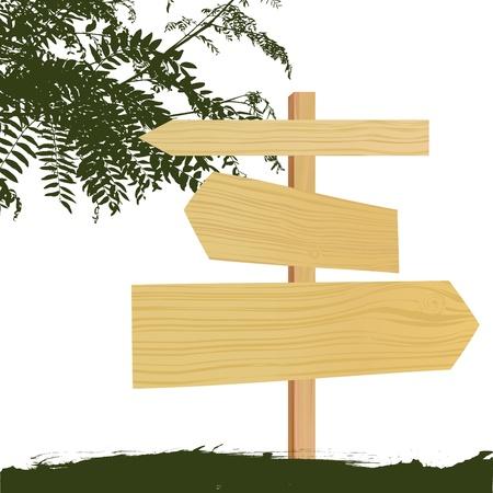 wooden sign Stock Vector - 10505775