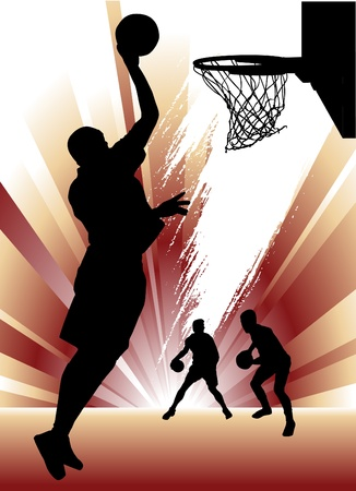 panier basketball: basket-ball