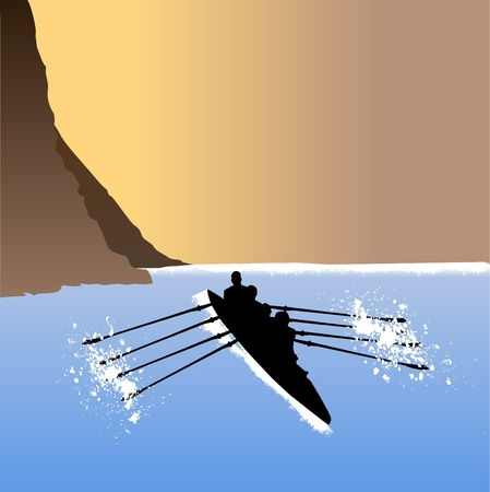 rower: rowing  Illustration