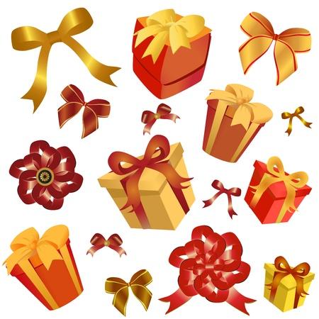 gift box and ribbon  Vector