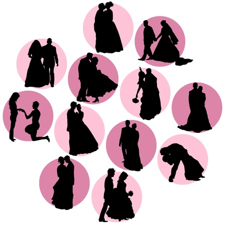 wedding couple silhouette: couple in love