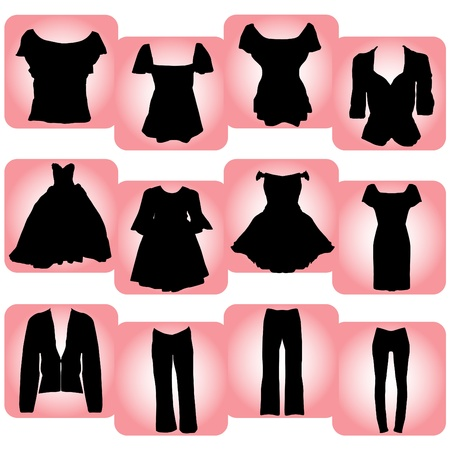 women s clothes: womens clothes  Illustration