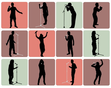 singing people Vector