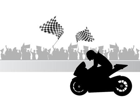 motorcycle race  Illustration