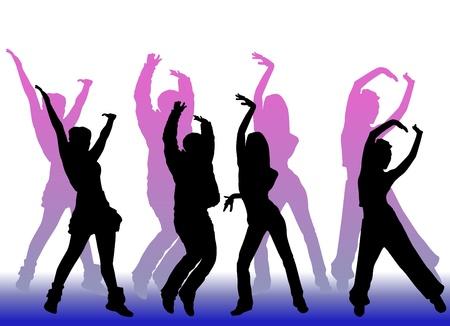 chicas bailando: los pueblos de baile