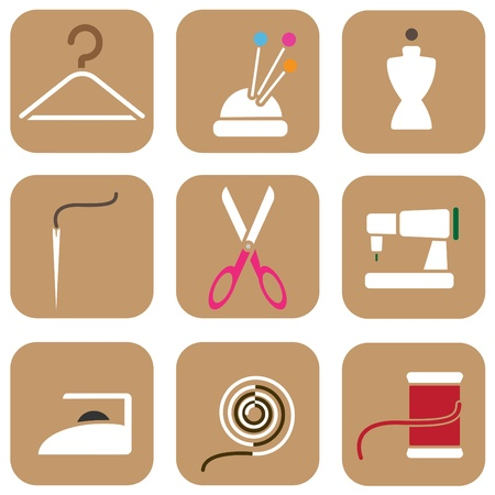 tailor icons Stock Vector - 10560547