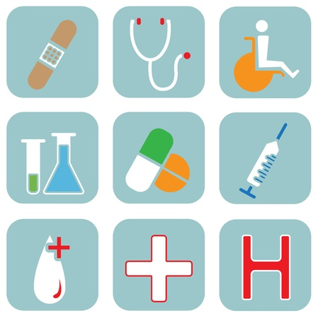 medical icons  Stock Vector - 10560545