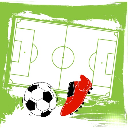 soccer shoe: soccer background Illustration