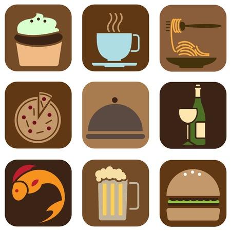 spaghetti: food icons