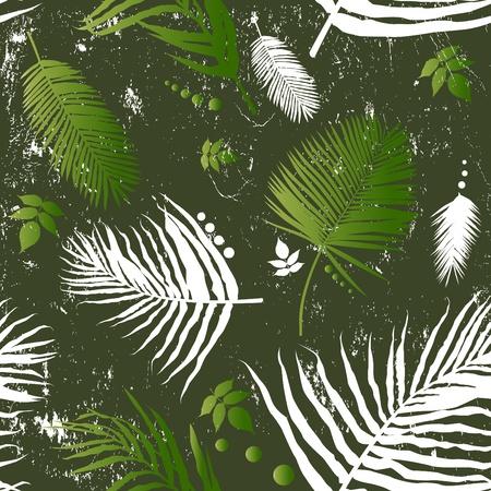 palm leaf: leaf seamless pattern