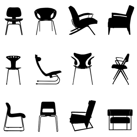 modern furniture: chair set Illustration