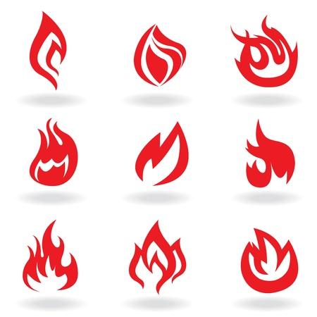 winter barbecue: fire symbols