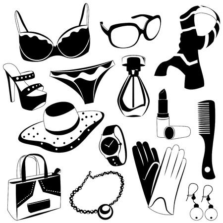 woman fashion icons Vector