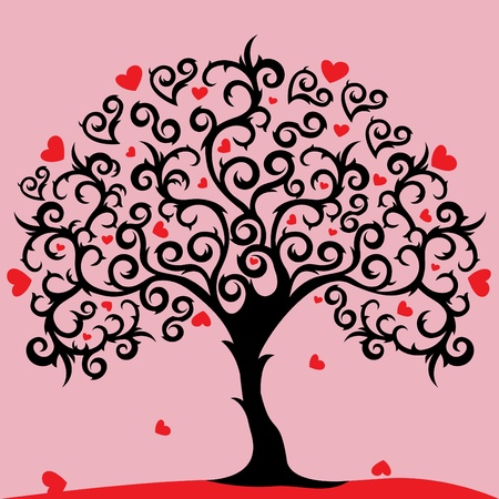 abstract love tree Stock Vector - 10610431