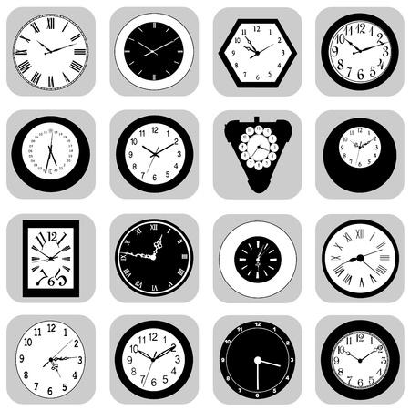 wall clock set Stock Vector - 10610440