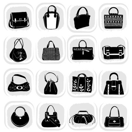 leather bag: fashion bag set Illustration