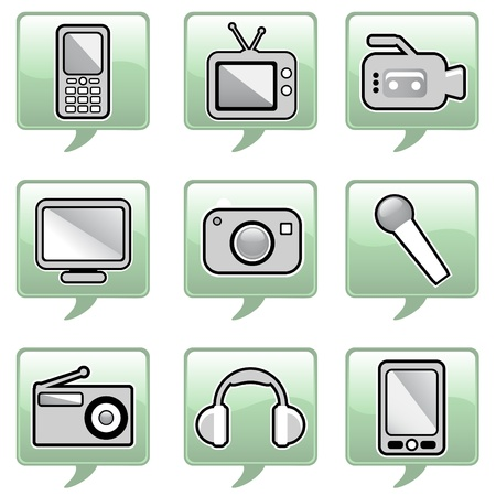 technology icons Stock Vector - 10610436