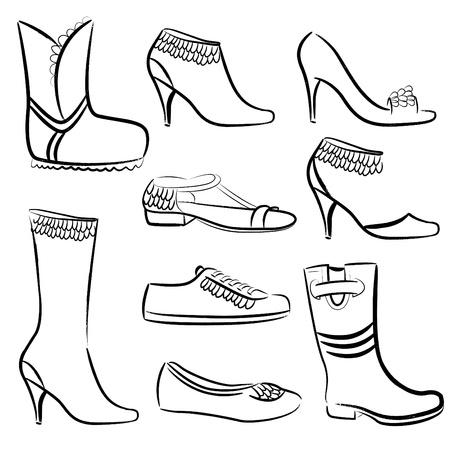 dessin chaussure mode chaussures femmes illustration