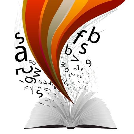 artikelen: boek Stock Illustratie