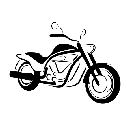 cycle ride: chopper motorcycle Illustration