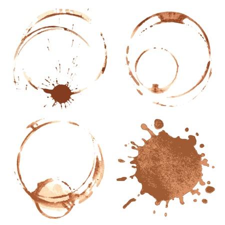 macchie di caffè Vettoriali