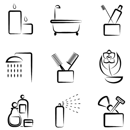 bathroom icons Stock Vector - 10689664