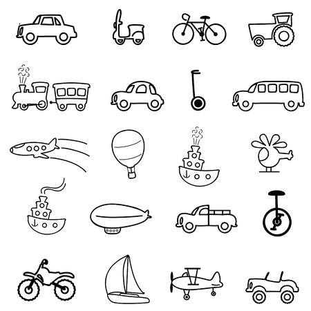 transportation icons Stock Vector - 10689694