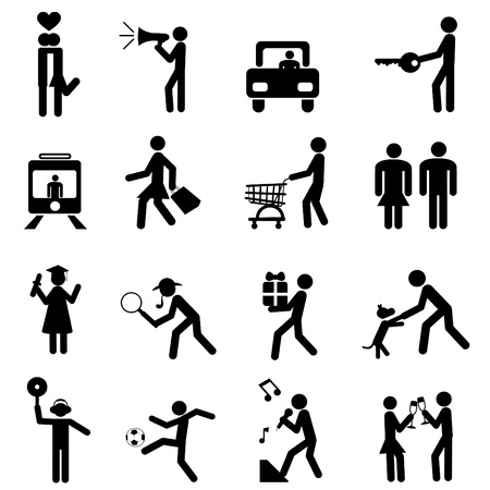 holiday shopping: people pictogram