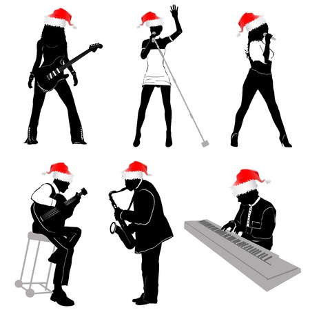 music with christmas concept Vector