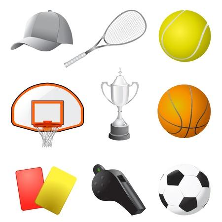 soccer balls: sport items vector
