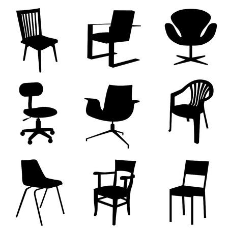 silla de conjunto Ilustración de vector